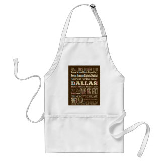 Attractions & Famous Places of Dallas, Texas. Standard Apron