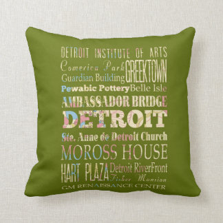 Attractions & Famous Places of Detroit, Michigan. Cushion