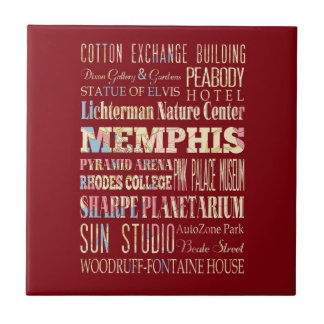 Attractions & Famous Places of Memphis, Tennessee. Tile