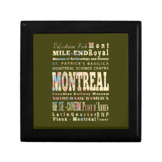 Attractions & Famous Places of Montreal, Québec. Gift Box