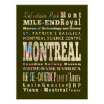Attractions & Famous Places of Montreal, Québec. Poster