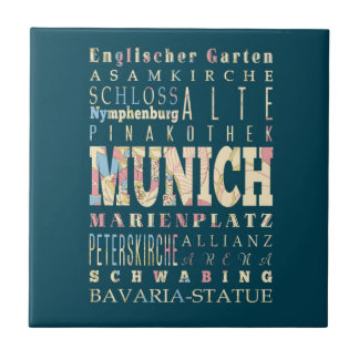 Attractions & Famous Places of Munich,Germany. Tile
