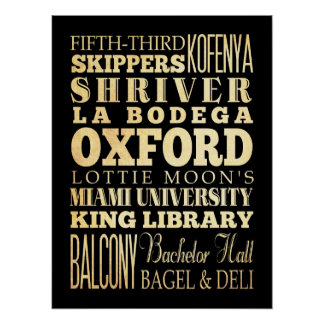 Attractions & Famous Places of Oxford, England Posters