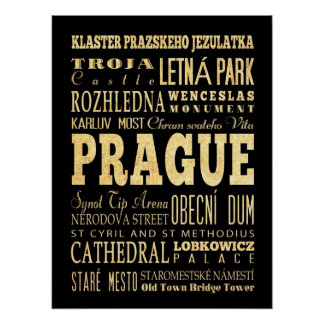 Attractions & Famous Places of Prague, Stredocesky Poster