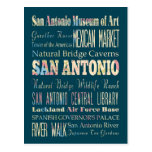 Attractions & Famous Places of San Antonio, Texas. Postcards
