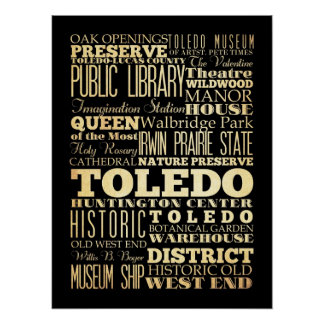 Attractions & Famous Places of Toledo, Ohio Poster