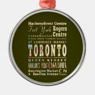 Attractions & Famous Places of Toronto, Canada. Christmas Ornament