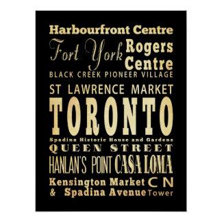 Attractions & Famous Places of Toronto, Ontario Poster