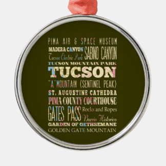 Attractions & Famous Places of Tucson,Arizona. Christmas Ornament