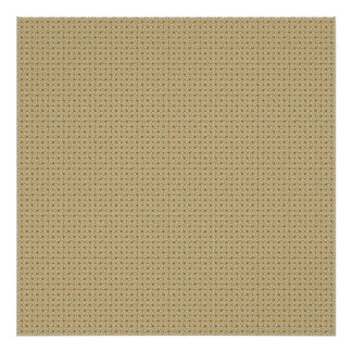 Attractive antique white stems squares on brown ro poster