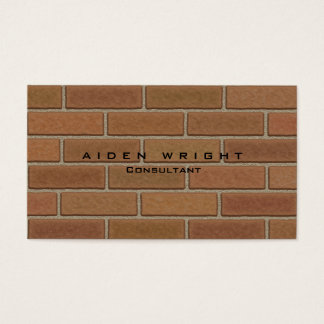 Attractive Brown Wall Stylish Modern Minimalist Business Card