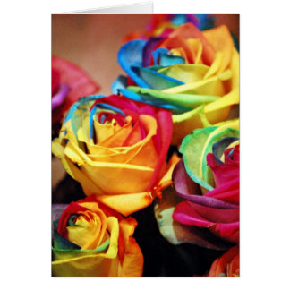 Attractive colourfull roses greeting cards