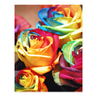 Attractive colourfull roses custom flyer