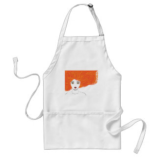 Attractive girl with red hair standard apron