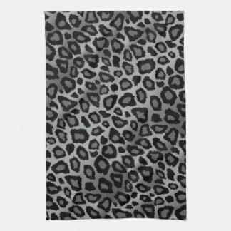 Attractive Gray Leopard Animal Print Tea Towel
