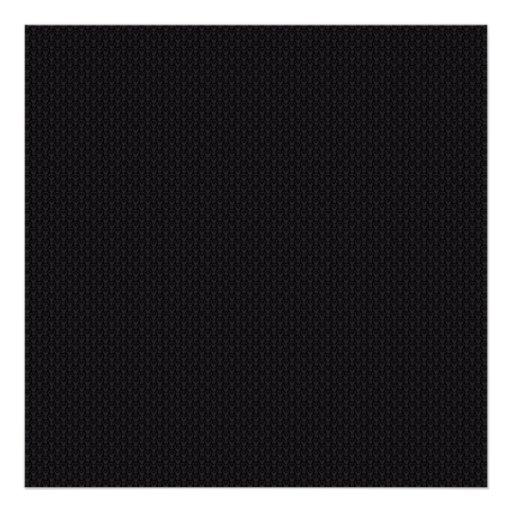 Attractive grey damask pattern on black surface posters