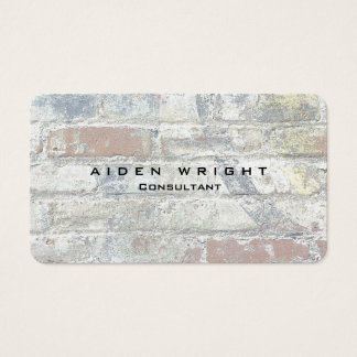 Attractive Grey Wall Stylish Modern Minimalist Business Card