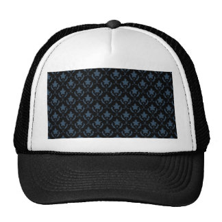 Attractive light blue flowers with two leafs on ro trucker hats