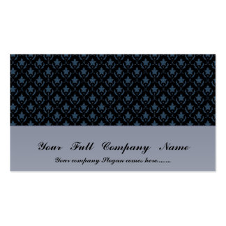 Attractive light blue flowers with two leafs on ro pack of standard business cards