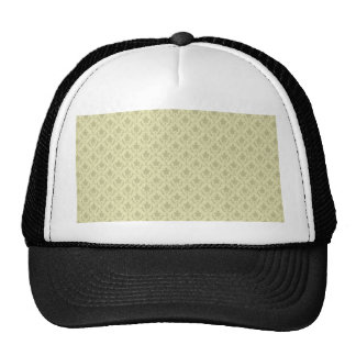 Attractive light grey flowers with two leafs on ro mesh hat