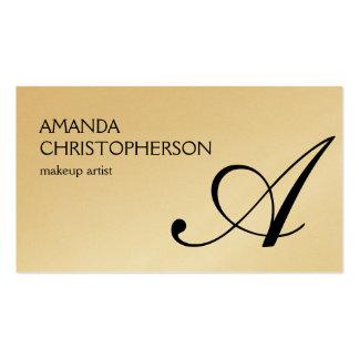 Attractive Monogram Makeup Artist Business Card