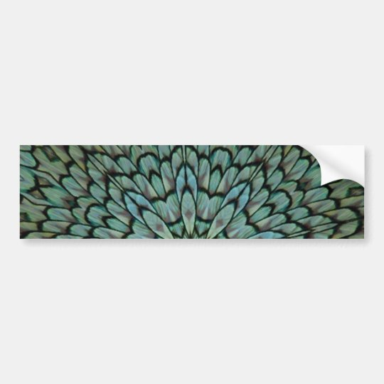 Attractive Peacock Feathers Kaleidoscope Bumper Sticker