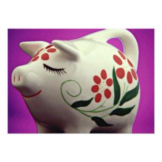 Attractive Piggy bank Custom Announcements