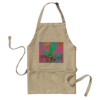 Attractive Pink Abstract Art Apron