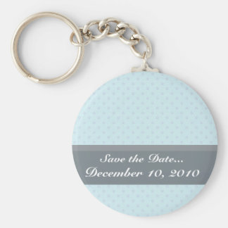 Attractive purple stars on rough sky blue surface keychain