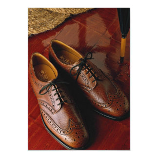 Attractive shoes for gentlemen 13 cm x 18 cm invitation card