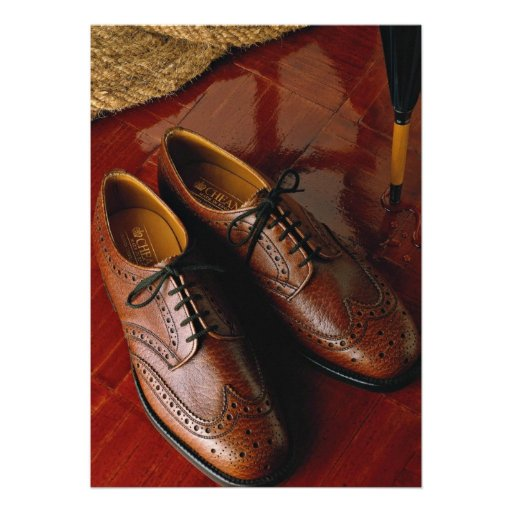 Attractive shoes for gentlemen personalized invites