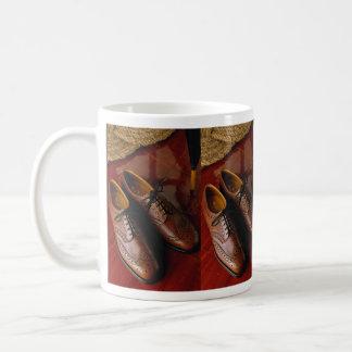 Attractive shoes for gentlemen coffee mug