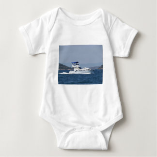 Attractive Small Motorboat Baby Bodysuit