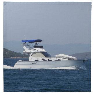 Attractive Small Motorboat Napkin