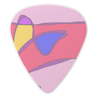 Attractive Smile White Delrin Guitar Pick