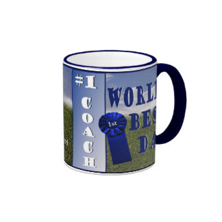 Attractive Soccer Dad and Son Soccer Practice Ringer Mug