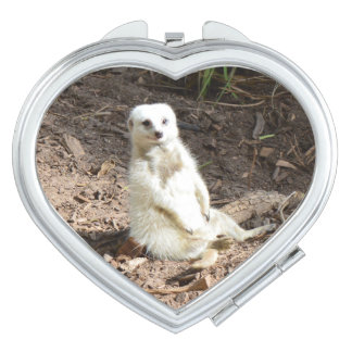 Attractive_White_Meerkat_Ladies_Compact_Mirror. Mirror For Makeup
