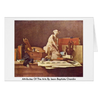 Attributes Of The Arts By Jean-Baptiste Chardin Greeting Card
