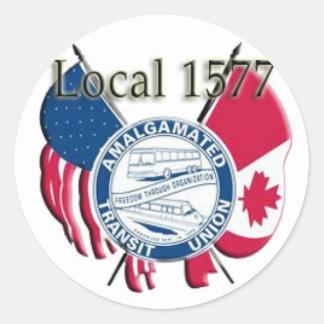 ATU Local 1577 Round Sticker
