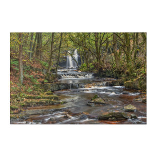 Atumn waterfall acrylic print