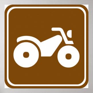 ATV Highway Sign Poster