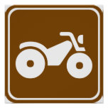 ATV Highway Sign Posters