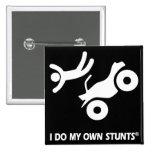 ATV My Own Stunts 15 Cm Square Badge