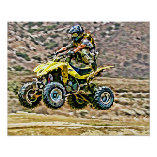 ATV Off Road Running Poster