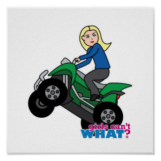 ATV Rider - Blonde Posters