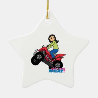 ATV Rider - Medium Christmas Ornament