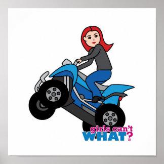 ATV Rider - Red Poster