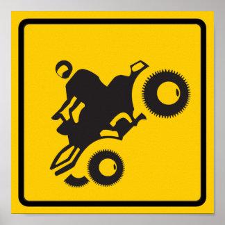 ATV Traffic Highway Sign Poster