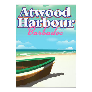 Atwood Harbour Bahamas travel poster Card