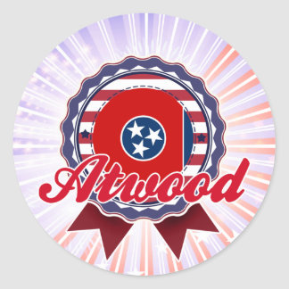 Atwood, TN Round Stickers